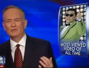 "catbountry:  bookshop:  Everything O'Reilly Got Wrong about ""Gangnam Style"" After months of Psy taking the Internet, and then the world, by storm, you might think we've heard from all the pundits, music critics, pop-cultural commentators, and Korean-culture bloggers out there about the cultural, musical, and social significance of ""Gangnam Style."" But you'd be wrong. Because we hadn't yet heard from Bill O'Reilly. Now that ""Gangnam Style"" has broken all records for the most number of YouTube views, with 800 million watches and counting, the Fox pundit has deemed it worthy of his attention. But despite all the readily available resources to help him understand the song's critique of modern South Korean culture, O'Reilly claims to be deeply confused. In their five-minute assessment of the video, he and psychiatrist Keith Ablow come to the conclusion that the viral hit is just a lot of jumping up and down over a catchy beat. Both O'Reilly and Ablow roundly denounce the song as having no depth or emotion. Claiming that the song is devoid of ""reality, feeling, and meaning,"" they imply that ""Gangnam Style"" represents a need for ""pure escapism."" Psy is ""just doing the Pony … jumping up and down,"" O'Reilly says.  O'Reilly states that the song is ""without intelligible words,"" and that it ""doesn't try to convince you of anything""—ignoring both the obvious fact that the words are unintelligible to himbecause they are in Korean, and the easily obtained fact that the music video is an intentional critique of South Korean materialism epitomized in the wealthy urban district of Gangnam.  The masses of listeners, O'Reilly claims, simply want to be ""pushed towards a good beat that buries them in music.""  The climax of his litany of misunderstandings comes when he contrasts Psy with a handful of British and American singers:  Elvis Presley could sing. His songs had words. He put on a show. This is a little fat guy from Yongyang [sic], and he's jumping up and down. … You could understand Presley, the Beatles, the Rolling Stones, even Justin Bieber. … There's no comparison.  Psy, who studied at the renowned Berklee Conservatory of Music in Boston before returning to Seoul (that's in South Korea; Pyongyang is North Korea) to pursue his career, might disagree. Read the rest at the Daily Dot, for all your ragefroth needs!  Keep on keepin' on, Bill."