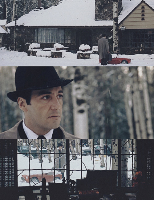 Frames from the Godfather Part II, cinematography by Gordon Willis