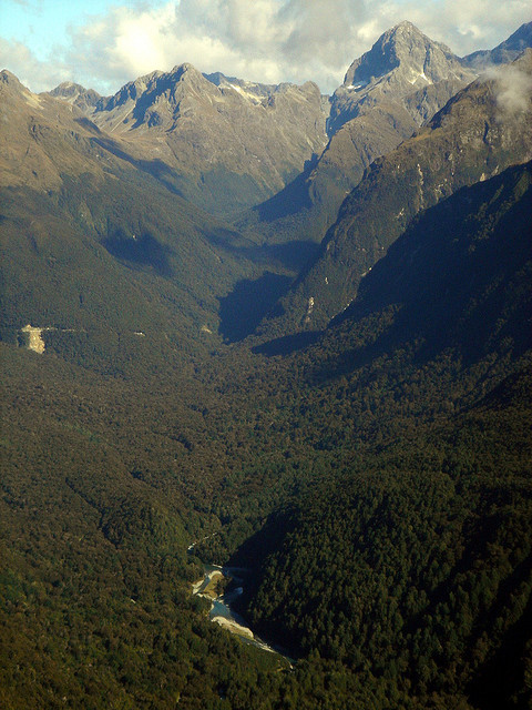 visitheworld:  Hollyford River Valley in South Island, New Zealand (by elizabethadair).  I was here 12 days ago