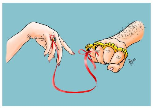 Turkish cartoonist Hilmi Simsek on the problem of violence against women.
