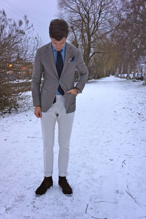 sartorialdoctrine:   WIWT - Sartorial Doctrine   A bon vivant enjoys harmonious color combinations