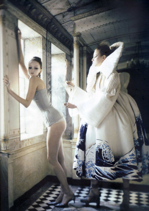Happy Birthday John Galliano! - Suvi Koponen & Lily Cole by Paolo Roversi - Christian Dior Haute Couture s/s 07