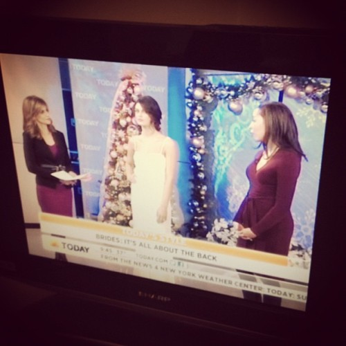 Our lovely editor in chief @KeijaMinor debuts on the @todayshow!! #love #weddingdress