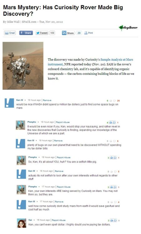 Ken M Attacks Mars [Click for more trolling]