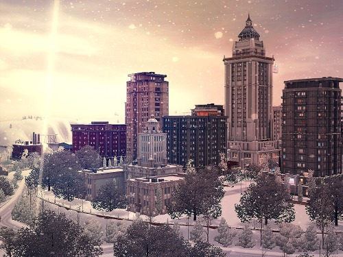 simscious:  St. Claire downtown in winter