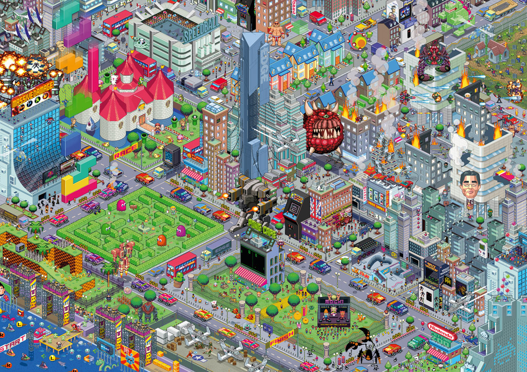 it8bit:  Videogame City V2.0 Prints available @Society 6 Created by Army of Trolls