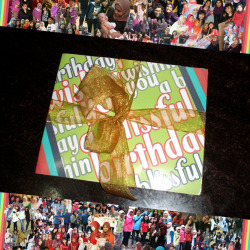november 2012, birthday card for my friend, achin. I've been doing this birthday card thing for my friend for a year and I made each card have different designs. there are collage pictures of our journey and also phrases to congratulate and wish one's birthday. it is always a delight to look at the pictures reminiscing our moments and see how we evolve from time to time.