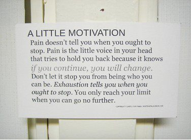 a little lesson about pain…