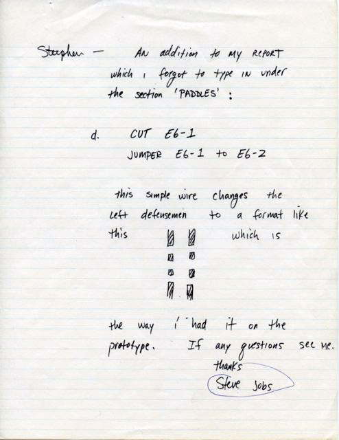 jaymug:  the only known surviving Steve Jobs documents from his time at Atari.
