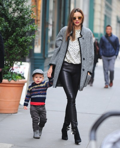 Miranda Kerr + son, Flynn in NYC on Wednesday…