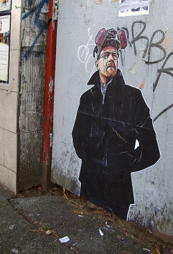 Awesome Walter White graffiti!