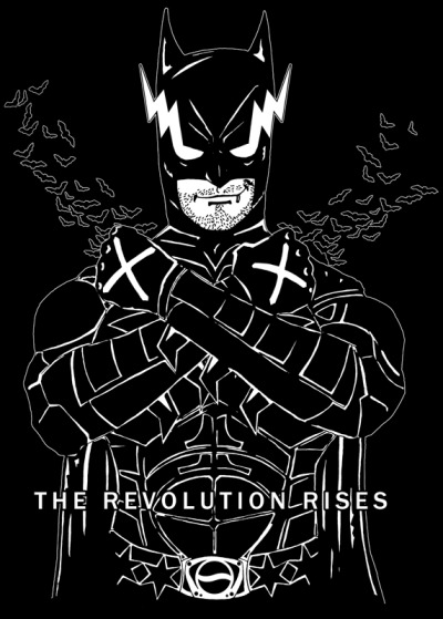 Rad Recorder presents: The Revolution Rises, starring CM Punk Get it HERE!  The Revolution Rises starring CM Punk, a Rad Recorder production. CM Punk becomes Batman in this incarnation of The Dark Knight! The Batsuit is morphed with Punk's iconography of Chicago stars and X's, Gotham City is fused with Chicago, as the Second City Saint becomes Bruce Wayne, a straight edge vigilante. Copyright and glory by Rad Recorder, Original Goth Swag Material. Follow Rad Recorder into the Batcave.