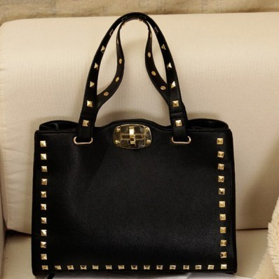 Faux Leather Pure Color Stud Decoration Handbag -Women Bags & Handbags- Free Shipping Over $75 on @weheartit.com - http://whrt.it/UuoeAe