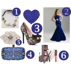 Six Favorites! by mariaplb featuring a black bangle braceletBlack heels / Handbag / LeelaBijou black bangle bracelet, $185 / Nicole Miller  / Laura Mercier beauty product, $80 / Evenings by Allure Prom Dresses - Style A550 [A550] - $318.00 :…