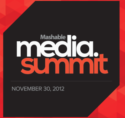Tonight I'm heading up to NYC to attend the Mashable Media Summit tomorrow.  The Media Summit explores the impact that technology is having on media, and how digital media is affecting our lives and changing the world.  The summit will feature a variety of speakers including people from Facebook, Twitter, Tumblr, Hearst Magazines, NPR, Donna Karen, and more. And of course, Mashable.  You can follow along with me on Twitter @ChristineCotter and also using the hashtag #mediasummit.  I'll be sure to post a full recap of everything I learned once I'm back!