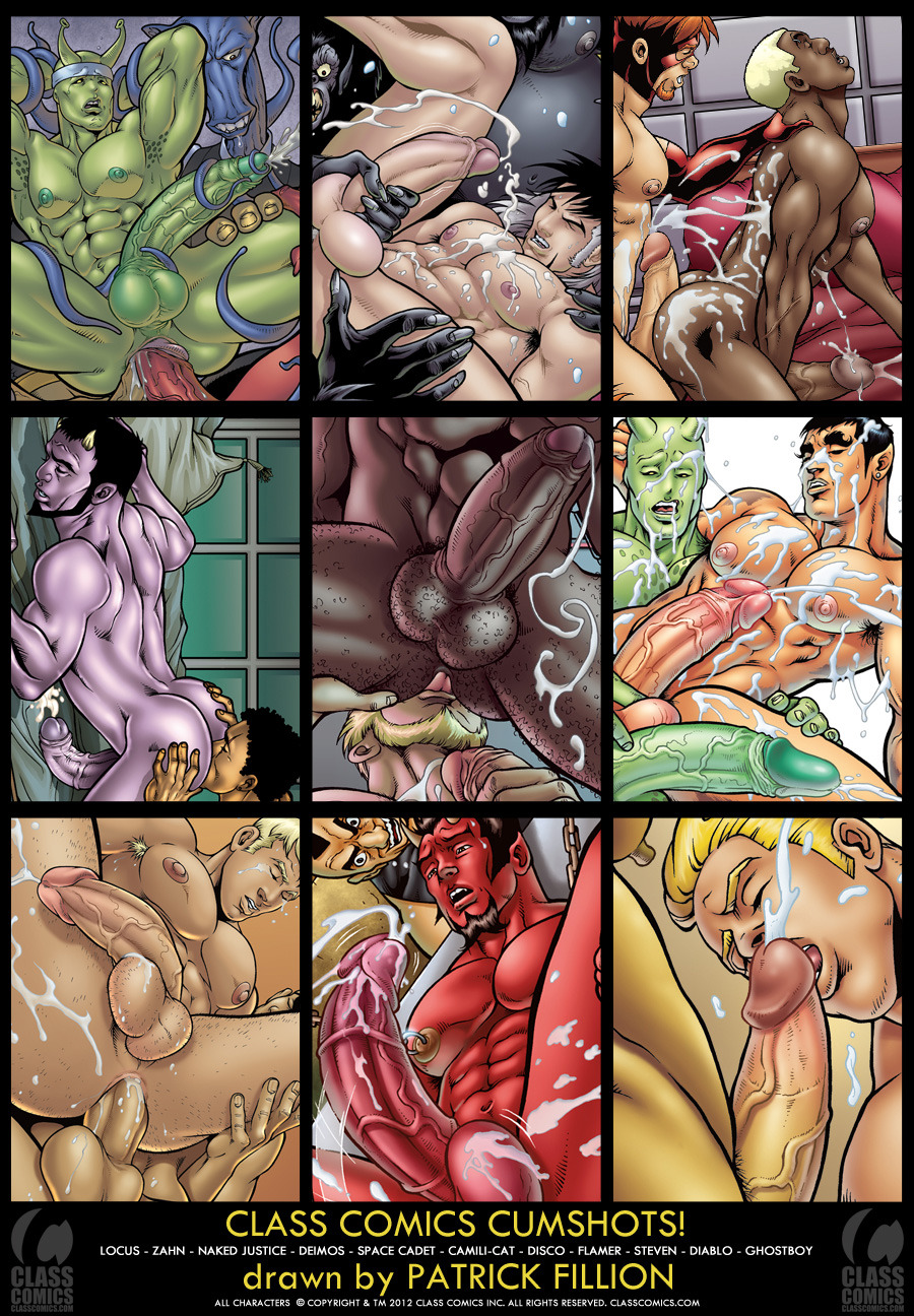 classcomics:  CLASS COMICS CUMSHOTS!  Art by Patrick Fillion. All characters are © Copyright and TM 2012, Class Comics Inc. All rights reserved.