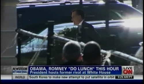 Mitt's going to meet a friend for lunch.