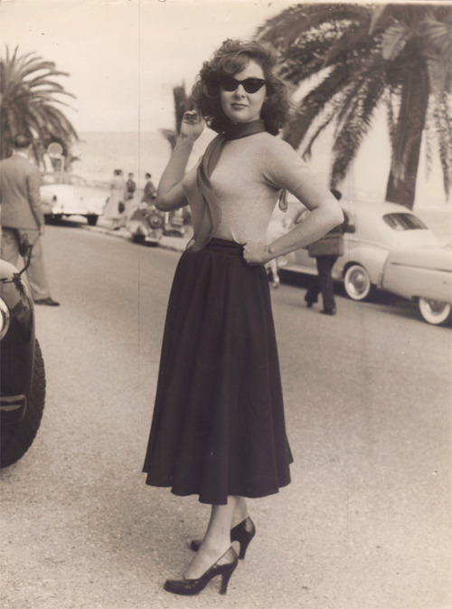 marthaivers:  Susan Hayward at Cannes Film Festival, 1956.
