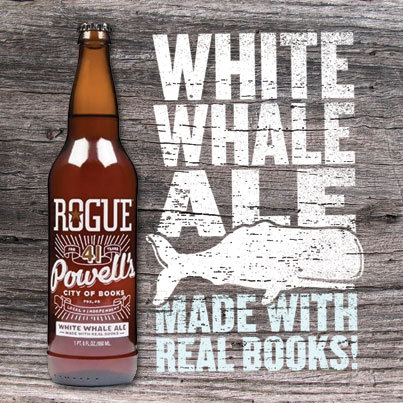 Just call us Ishmael. In collaboration with Rogue Ales, we present White Whale Ale—a literary libation infused with the seafaring spirit of Moby Dick. Drink up, sailors: http://powells.us/Ttymq2