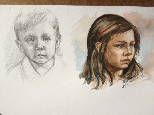 Brushing up on my portrait work with a couple of sketches.