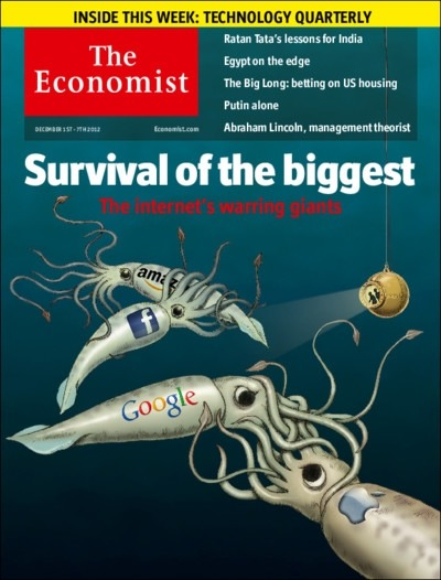 theeconomist:  Tomorrow's cover today: concern about the clout of the internet giants is growing. But antitrust watchdogs should tread carefully.  Update: As a few folks have noted, perhaps the most interesting thing about the graphic is the company not included: Microsoft. Ouch.