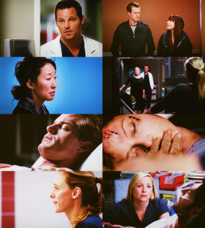 "FAVORITES OF 2012 - Grey's Anatomy""This is a place where horrible things happen. You were right to go. You're probably escaping disaster. Look at me. I practically grew up here, and you're right, it's hurt me in ways I'll probably never get over. I have a lot of memories of people. People I've lost forever. But I have a lot of other memories too. This is the place where I fell in love. The place where I found my family. This is where I learned to be a doctor. Where I learned how to take responsibility for someone else's life. And it's the place where I met you. So I figure this place has given me as much as it's taken away from me. I've lived here as much as I've survived here. It just depends on how I look at it. I'm gonna choose to look at it that way, and remember you that way. Hope you're good. Bye."""