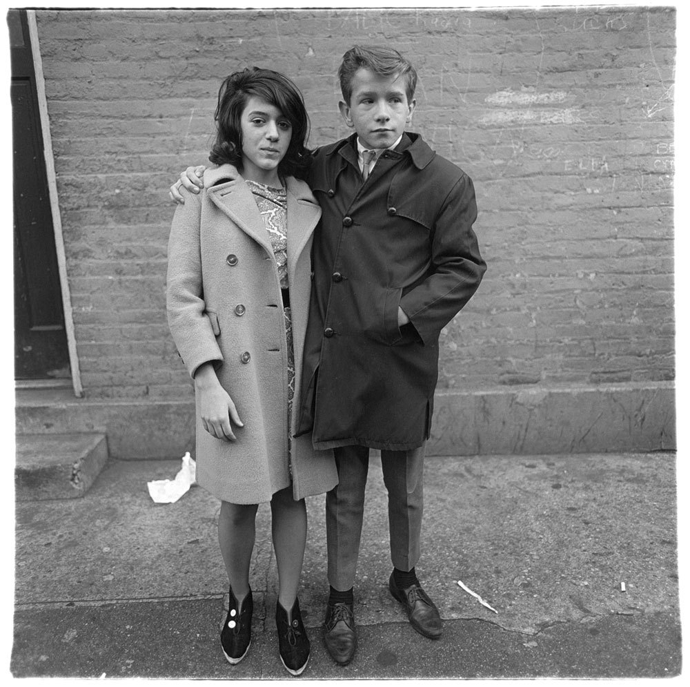Diane Arbus: Teenage couple on Hudson Street, N.Y.C.