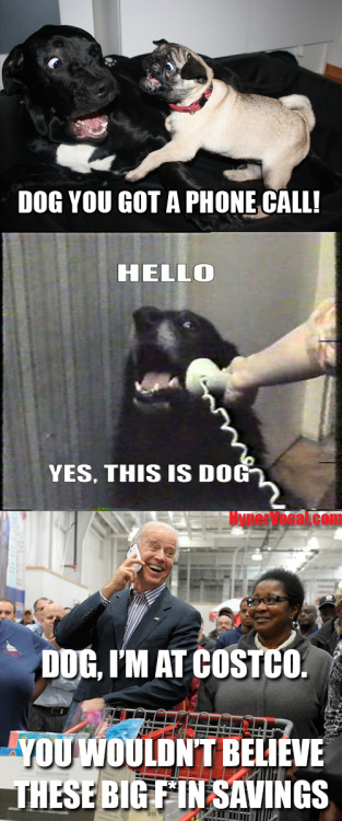 Joe Biden has the bestest phone conversations.  Click here to see more from Biden's Costco trip today.