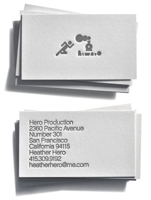 Identity for Hero Production. The company, owned by Heather Hero, produces photoshoots for brands such as Banana Republic, Levi's, Gap, and Dockers, as well as others outside the apparel industry.