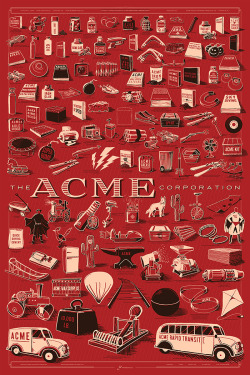 Every Acme Corp. product ever made, in one poster. nevver:   Acme Corp