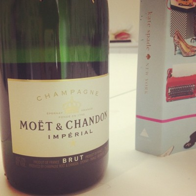 katespadeny:  champagne for lunch. (at kate spade new york)