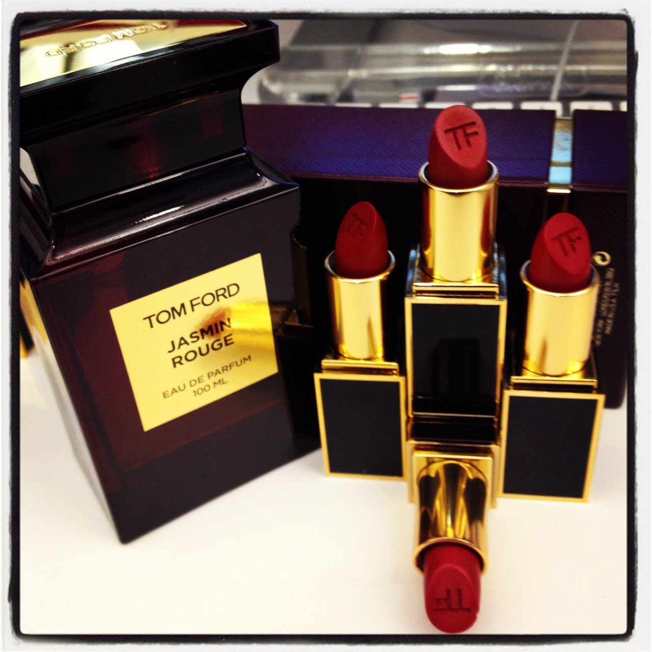 Totally Crushing On: Tom Ford's Holiday Lipsticks These gorgeous crimson lipsticks just hit our desks and we couldn't be more smitten. The Jasmin Rouge collection, inspired by Tom Ford's spiced-floral fragrance of the same name, features two cherry-reds (Slander and Narcotic Rouge) and two crimson-reds (Reckless and Diabolique). My personal favorite is Narcotic Rouge, a matte finish cherry, that's the ideal mix of berry and bold red and will be great for all those upcoming holiday soirees. Keep an eye out for these pretty shades at Neiman Marcus this month! We know these lipsticks are super-luxe, so we picked our favorite rouge hues that won't break the bank. Here are our top three: Lipstick Queen Medieval Tinted Lip Treatment: This hydrating, silky formula goes on sheer at first and builds up to a pretty crimson. Bobbi Brown Creamy Matte Lipstick: We love this option with our favorite LBD since the highly-pigmented formula has a satiny matte finish.  Beauty Is Life Red Lipstick: For a long-lasting shade (say, to last through holiday cookies, cake and mulled cider), we always reach for this cherry shade. —Candice Have the lipstick but don't know how to wear it? Here's how to apply a flawless red lip.