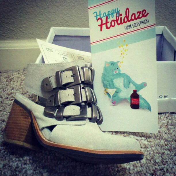 Solestruck knows about my cats' drinking problem #jeffreycampbell #solestruck