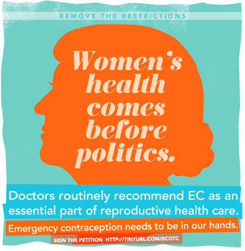 Women's health should always come before politics. Let's get ourselves some EC access - sign the petition today.