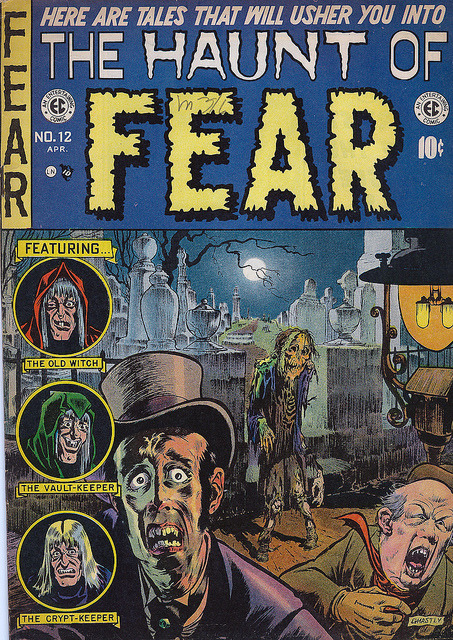 cryptofwrestling:  The Haunt Of Fear #12 (1952) Ghastly cover..