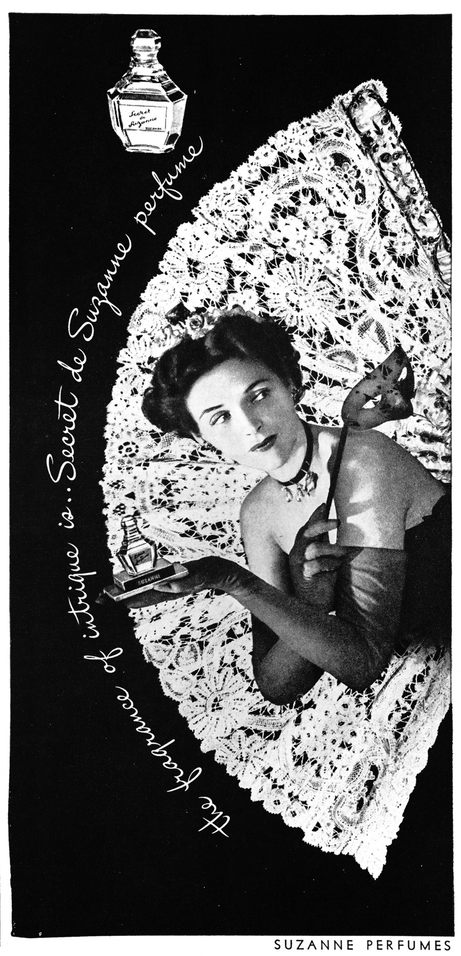 Suzanne Perfumes Advertisement - Gourmet: November 1945