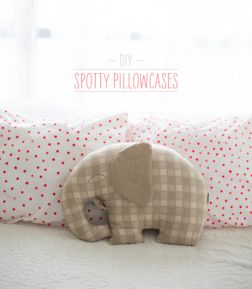 littlecraziness:  (via DIY Spotty Pillowcases | Say Yes to Hoboken)