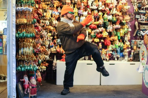 humansofnewyork:  Because those Christmas ornaments aren't going to sell themselves.