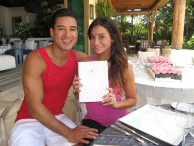 AC Slator Mario Lopez married long time girlfriend Courtney Mazza today. The couple exchanged vows at the $30 million dollar, seaside Punta Mita estate of Girls Gone Wild founder Joe Francis, with Eva Longoria among guests. The couple has a 2 year-old daughter together.