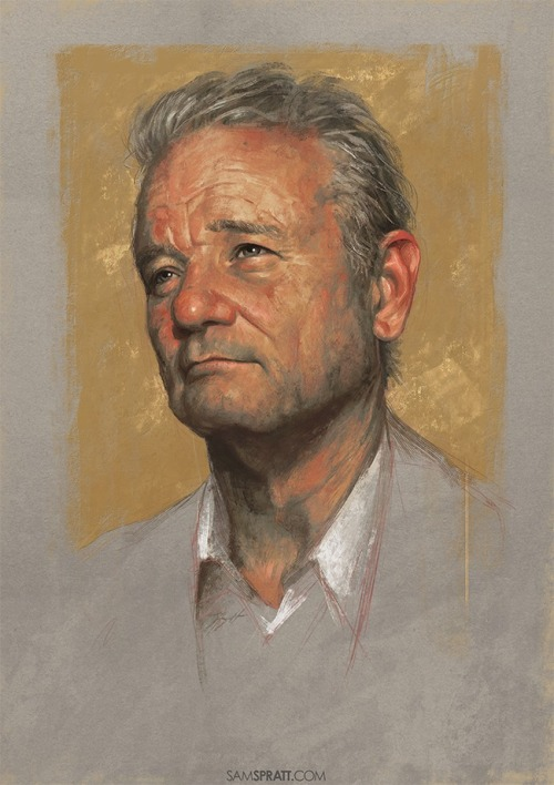 "samspratt:  ""Bill Murray"" - Illustration by Sam Spratt"