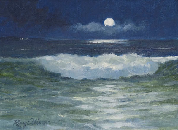 fycharleston:   Moonlit Surf, by Ray Ellis