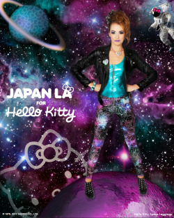 looooo:  GIVEAWAY! JapanLA Clothing is launching their very first collection, which happens to be with JapanLA's beloved friend, Hello Kitty! I was fortunate enough to work with them on their lookbook and am really proud of what they've been able to accomplish for their first line.   Photographer: Irene YuenModels: Rachel AnnamarieMUA: Candace ChristenHair: Ann-MarieStylist: Stephiee Nguyen To celebrate, here's your opportunity to win the Hello Kitty Galaxy Leggings in the size of your choice! [Small: 0-4, Medium: 6-10, Large: 10-14] To enter: Reblog this post. Likes will not count. Only one entry per person via Tumblr, so multiple reblogs will not harm or help you. Make sure your messages are open so I can contact you if you win. To double your chances of winning, enter for the Hello Kitty Face Dress (Red), and check out the rest of the lookbook, head over to my blog entry on JapanLA Clothing and leave a comment there! (comments are screened first, so don't worry that they aren't popping up right away) Giveaway ends on December 9, 2012 at 11:59pm PST. Good luck! P.S. If you're in LA on November 30th and free that evening, JapanLA Clothing will be having their launch party at JapanLA. Come hang out and buy the clothes you want, right then and there!