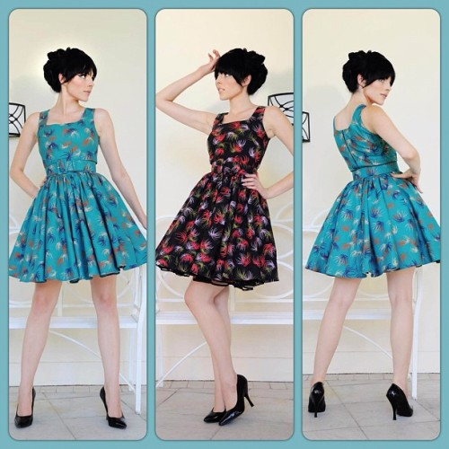 Lana Dresses in Fireworks Print are here! Wear with or without a petticoat. Available now at PinupGirlClothing.com, Pinup Girl Boutique in Burbank, and at selected PUG retailers worldwide! #pinupgirlclothing #laurabyrnes <3