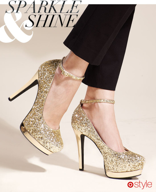 targetstyle:  'Tis the season to sparkle & shine own it now: glitter heels.