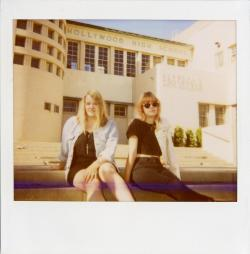 Polaroid of @HelloBleached. Outtake from Issue Three. Congrats on their signing to @DeadOceans. Read the issue here: http://issuu.com/gigawattsmag/docs/issue_3_web We posted this a while ago on facebook, but we like it so here it is again.