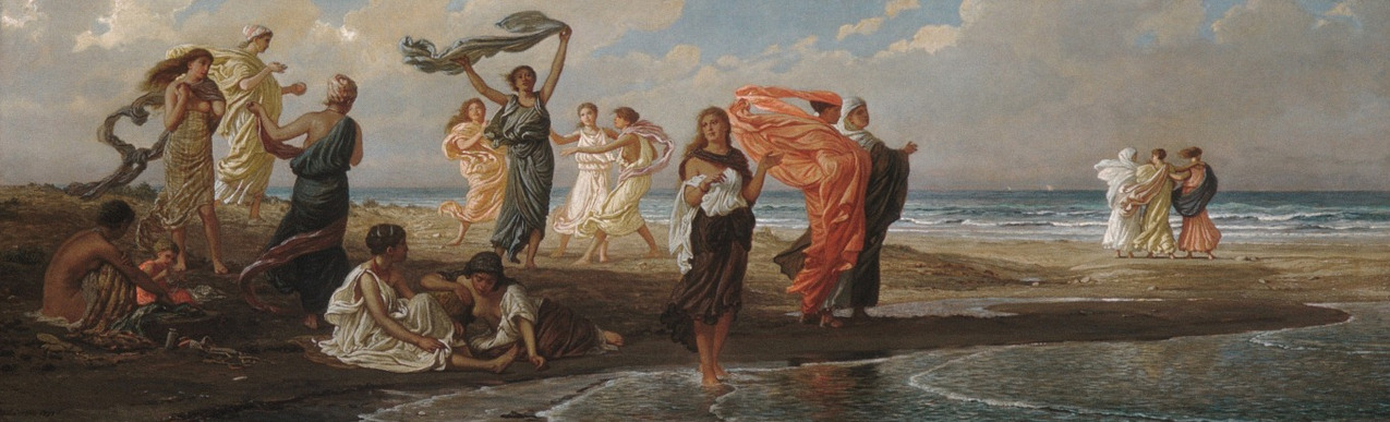 cavetocanvas:  Elihu Vedder, Bathing Greek Girls, 1872-77