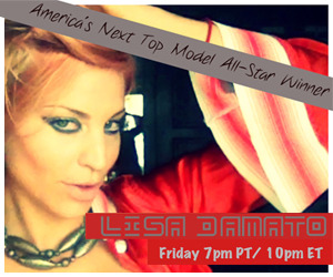 LIVE Chat with Lisa D'Amato (America's Next Top Model All-Star Winner)! Join America's Next Top Model All-Star Winner, Lisa D'Amato for a LIVE chat with her fans.  There will be laughing, dancing, and lots of chatting so you wont' want to miss it!  Starts FRI 7PM PT / 10PM ET! Follow LisaD'Amato: Tumblr YouTube Facebook Twitter