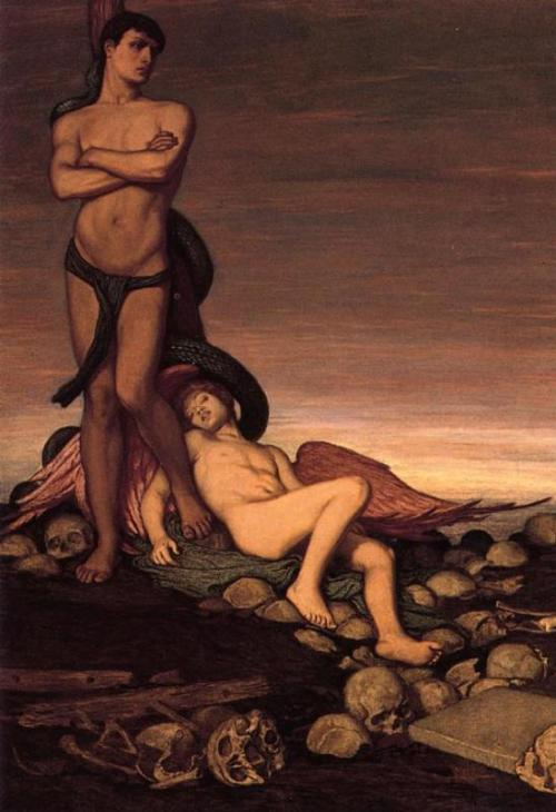 cavetocanvas:  Elihu Vedder, The Last Man, c. 1886-91