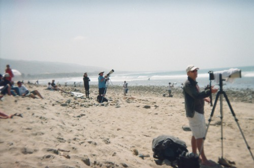 Photo of people taking photos.  San Clemente 2010.