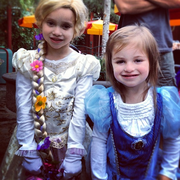 My little princesses!! :) (at Goofy's Sky School)